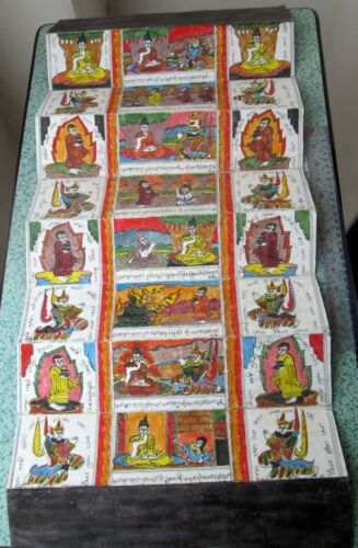 Blessed Vintage Illustrated Buddhist Sutra Wat Phra That Lampang Luang