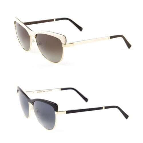Gold & Wood Donna Altais Cateye Occhiali 58mm $ 830 Nuovo
