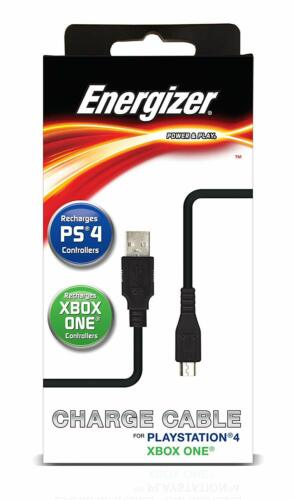 Energizer XBOX One Sony PS4 Controller PS Vita 2000 MicroUSB USB Charging Cable