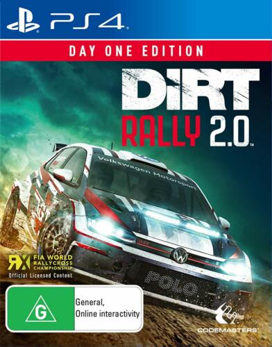 Dirt Rally 2.0 Day One Edition FIA Rallycross Racing Game Sony Playstation 4 PS4