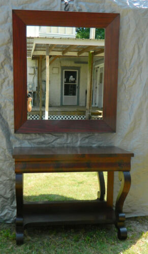 Empire Revival Mahogany Petticoat Table Pier Mirror circa 1890