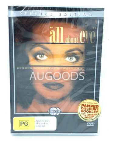 All about Eve special Edition 2 Disc  RARE FILM MOVIE PAL DVD NEW SEALED