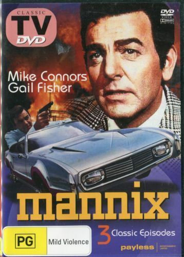 MANNIX Mike Connors Gail Fisher Ward Wood 3 CLASSIC EPISODES - Series DVD NEW