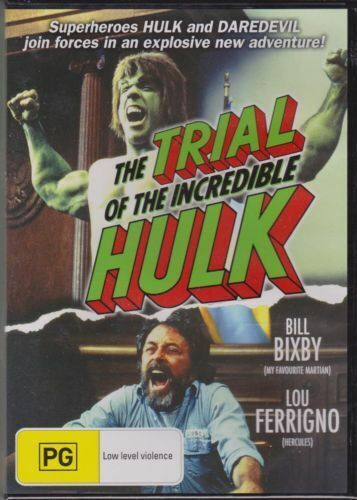 THE TRIAL OF THE INCREDIBLE HULK BILL BIXBY LOU FERRIGNO - DVD NEW