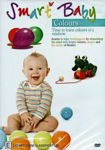 Smart Baby Colours Educational  RARE FILM MOVIE PAL DVD NEW SEALED AUSSIE STOCK