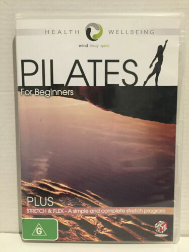 PILATES FOR BEGINNERS PLUS STRETCH &FLEX PROGRAMME NEAR 100 MINS DVD NEW SEALED