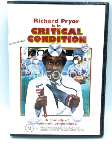 Critical Condition Richard Pryor  RARE FILM MOVIE PAL DVD NEW SEALED