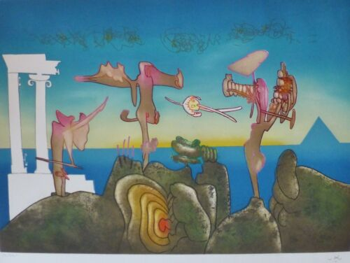 ROBERTO MATTA 5 PM L'Arc Obscure Des Heures etching/aquatint HAND SIGNED Obscur