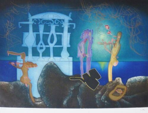 ROBERTO MATTA 2 AM L'Arc Obscure Des Heures etching/aquatint HAND SIGNED Obscur