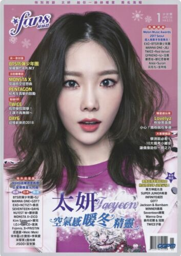 TAEYEON in FANS MAGAZINE (ft BTS, EXO, NCT127, TWICE and MANY MORE!)