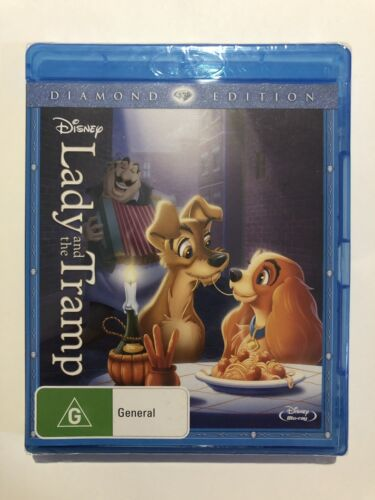 Lady And The Tramp (Blu-ray, 2012) Brand New & Sealed Disney Rated G Movie 🍿