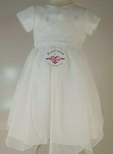 SARAH LOUISE 8461 TODDLER IVORY BRIDESMAID OCCASSIONAL DRESS 1-2 YEARS RRP £109