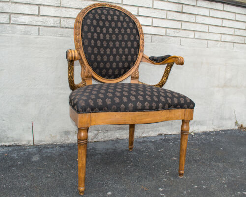 Regency Style Desk Chair Newly Upholstered & Restored Great Condition