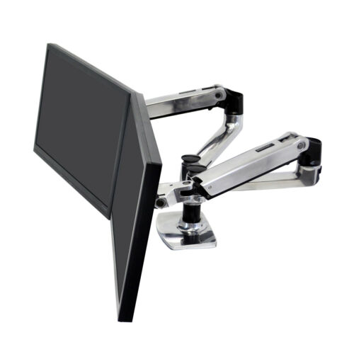 """Dual Side-by-Side Monitor Arm LX up to 27"""" each, Ergotron 45-245-026"""