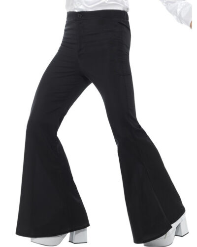 Black Flared Mens Trousers