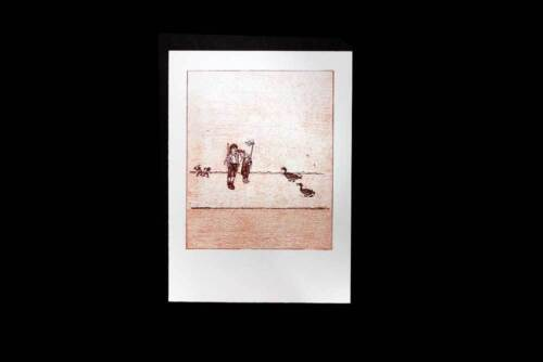 Max ERNST Original LITHOGRAPH Limited Ed.128/199 DECKLED Velin d'ARCHES +FRAMING