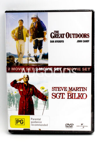 2 Movie Set - The Great Outdoors/ Steve Martin SGT. Bilko PAL DVD NEW SEALED