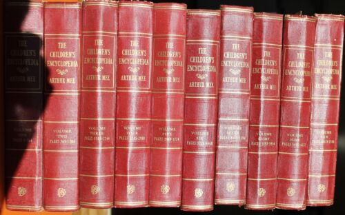 The Children's Encyclopedia Volumes 1-10 Arther Mee Anitque Collection Childrens