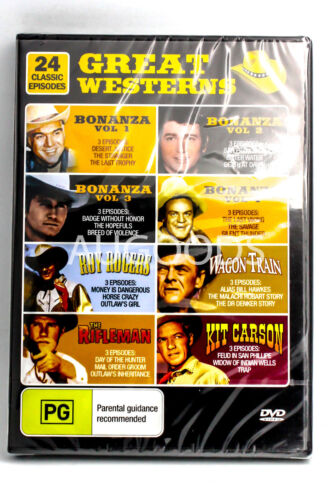 Great Westerns - 24 Classic Episodes RARE FILM MOVIE PAL DVD NEW SEALED
