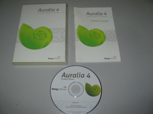 Auralia 4 Professional Ear Training Software For Win-Mac With Manual As New
