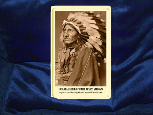 OGLALA CHIEF WHIRLING HORSE 1900 Cabinet Card Photograph RP