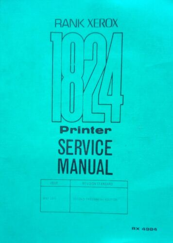 Antique Manual Service Xerox 1824
