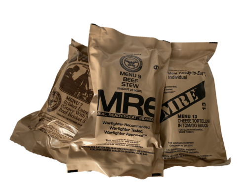 MILITARY MRE MEALS (YOU PICK THE MEAL) BUY 2 GET 1 <br/> BUY 2 PICK 1 FREE! - Camping, Backpacking, Survival