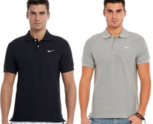 Mens Nike Classic Pique Polo Shirt T-Shirt Casual Fold Down Collar Size S M L XL