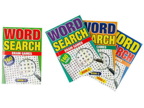 4 x A5 Word Search Book Brain Game Words Find Puzzle 160 Pages each Book