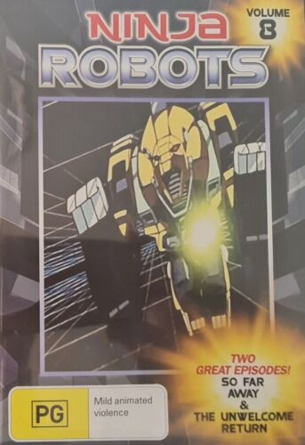 Ninja Robots Volume 8 - 2 GREAT EPISODES RARE FILM MOVIE PAL DVD NEW SEALED