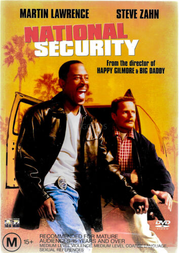 National Security- Martin Lawrence, Steve Zahn Region 4 PAL DVD NEW SEALED