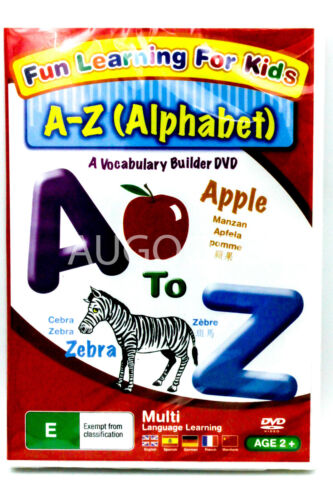 Fun Learning For Kids - A-Z Alphabets -Kids DVD Series Rare Aus Stock New