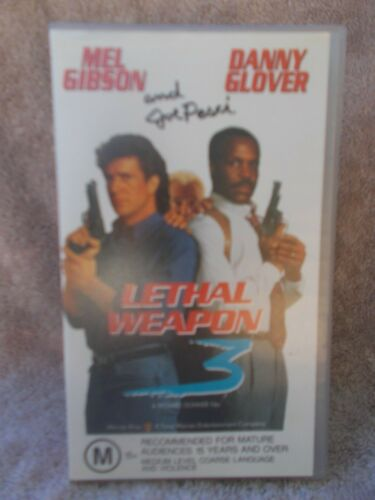 LETHAL WEAPON 3(WARNER BROS No 16000)MEL GIBSON M VHS TAPE (LIKE NEW)