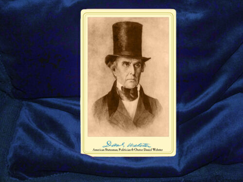 DANIEL WEBSTER 19th Century Great Statesman Politician Orator Cab Card Photo