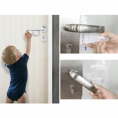 Door Lever Lock for Home Kids Safety Door Handle Locks Baby Anti-open Protector