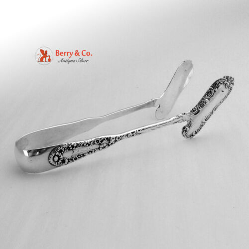 No 10 Asparagus Tongs Sterling Silver Dominick Haff  1896