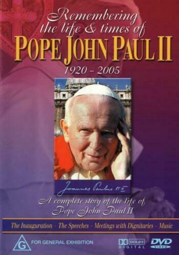 Remembering The Life And Times Of Pope John Paul II -Region 4 DVD NEW SEALED