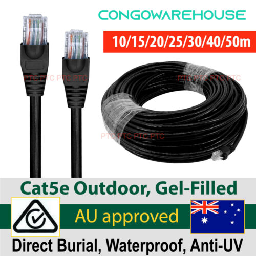 10m 20m 30m 40m 50m Cat5e Outdoor Ethernet cable 4 POE IP Camera- RJ45 pre made
