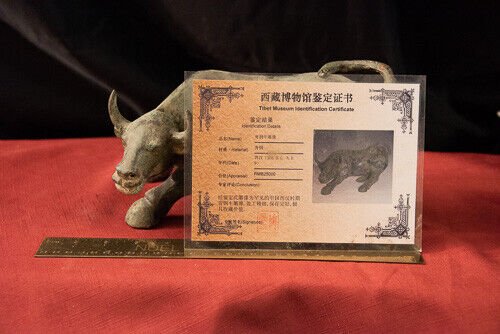 Chinese Western Han Period Ox Sculpture 206 B.C.-A.D. 9 w/ Certif Of Provenance