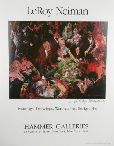 "Hammer Galleries ""International Roulette"" by Leroy Neiman Signed Poster w/ CoA"