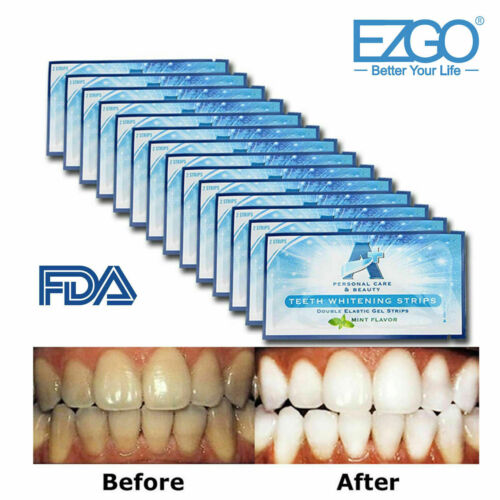 EZGO A+ 3D Teeth Whitening Strips Non Sensitive Cleaning Teeth -28pc