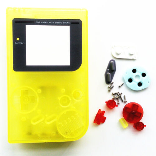GBO Housing Case shell for Gameboy Classic / DMG - Nightlight Clear Yellow