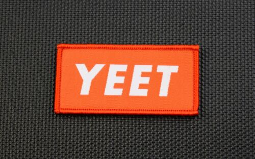 YEET Woven Uniform Patch VELCRO® Brand Supreme Parody Hook and LoopArmy - 48824