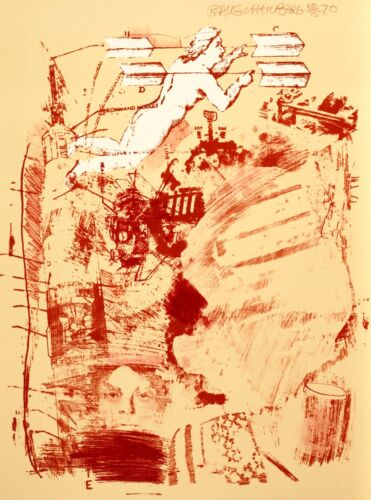 """Rauschenberg """"Score"""" Signed Limited Edition Lithograph (1970)"""