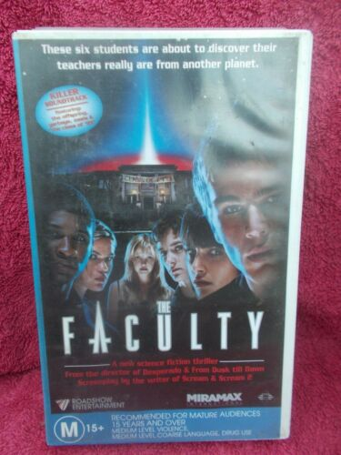 THE FACULTY(VILLAGE ROADSHOW No 101073)M VHS TAPE(LIKE NEW)