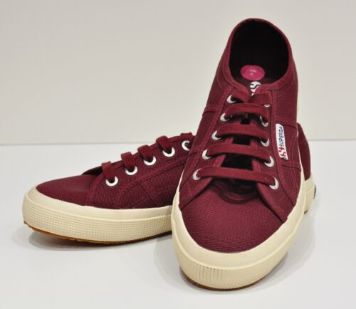 Superga BNWT UK5 Bordeaux Red COTU Classic Plimsoll Tennis Trainers Smart Casual