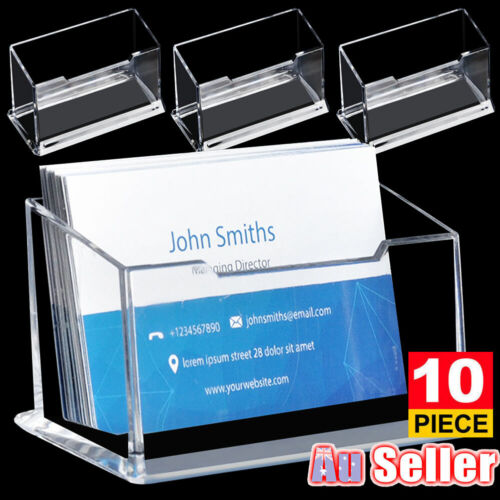 1/5/10PCS Business Card Holder Plastic Stand Display OZ
