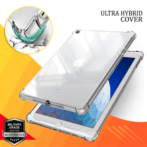For Apple iPad 7th 6th 5th Gen Air 1 2 3 Clear Case Heavy Duty Shockproof Cover