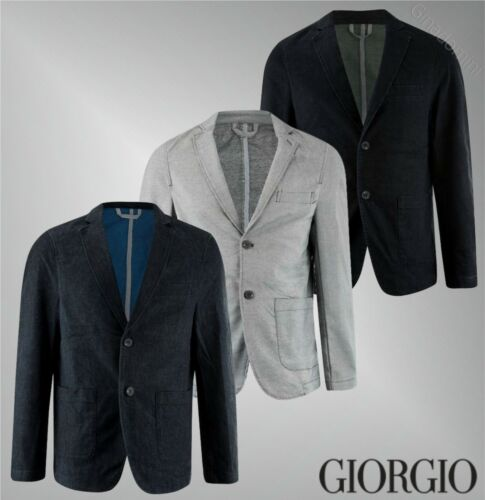 Mens Giorgio Button Fastening Casual Stylish Comfort Blazer Sizes from S to XXL