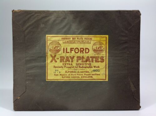 Antique Medical ILFORD X-Ray Plates Packet Unopened